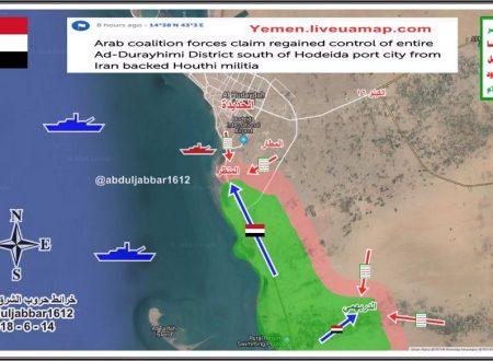 Yemen: le forze anglo-franco-statunitensi vogliono occupare Hudaydah