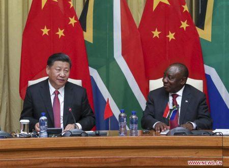 Cina e Sudafrica rafforzano l'amicizia tradizionale