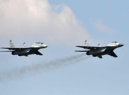 Cerimonia di accettazione dei MiG-29 nell'Aeronautica serba