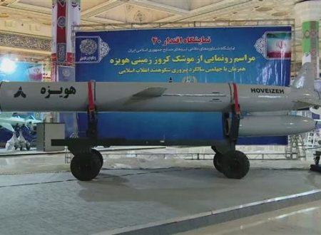 L'Iran mostra un nuovo missile da crociera a lungo raggio