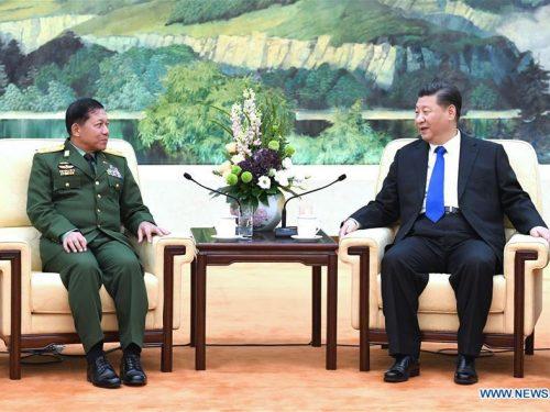 Xi incontra il comandante in capo della Difesa del Myanmar