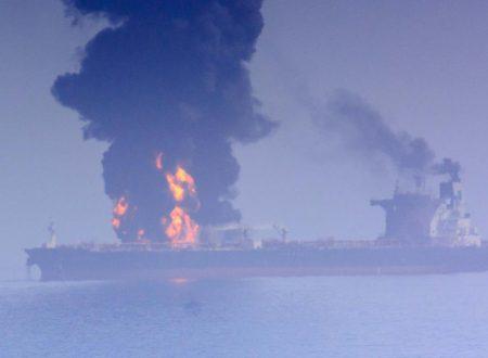 """""""Attacchi a petroliere"""" mentre gli Stati Uniti cercano la guerra con l'Iran"""