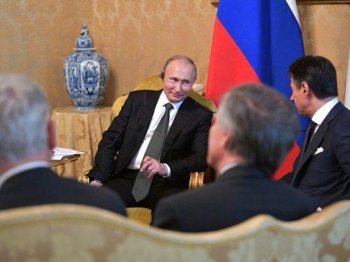 Conferenza stampa del Presidente Putin col primo ministro Giuseppe Conte
