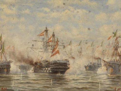 La battaglia di Lissa, la prima battaglia navale tra flotte corazzate