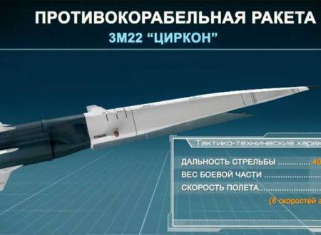 Putin conferma che la Russa dispiegherà i missili Zirkon quest'anno
