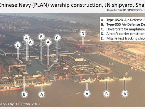La Marina cinese costruisce un numero incredibile di navi da guerra