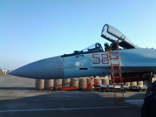 Su-35 dell'Aeronautica russa intercettano aviogetti israeliani sulla Siria
