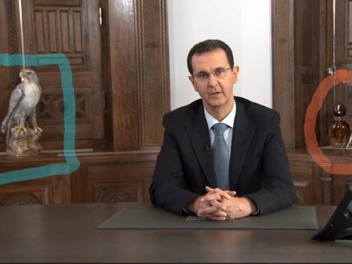 """Il """"messaggio"""" della bottiglia del presidente siriano"""