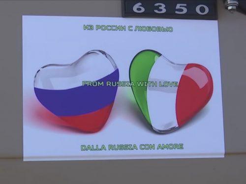Gruppo aereo russo di 9 aerei schierato per aiutare l'Italia