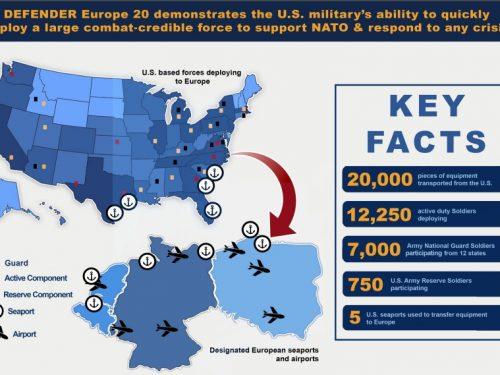 Gli Stati Uniti aumentano le truppe in Europa