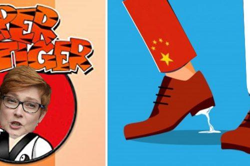 La gomma da masticare australiana si è attaccata alla scarpa russa