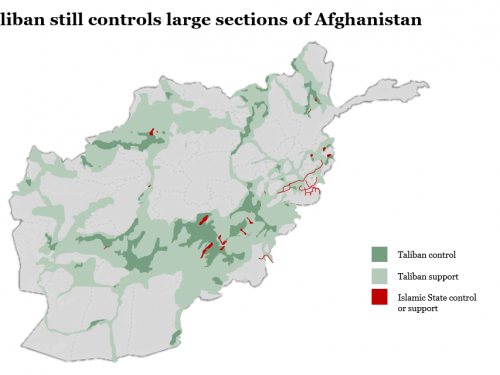 Le assurde accuse degli USA alla Russia sui combattenti afgani