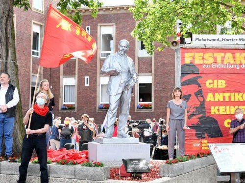 La statua di Lenin in Germania terrorizza la Polonia