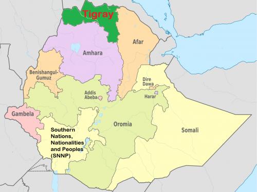 Le operazioni etiopi contro il governo del Tigray
