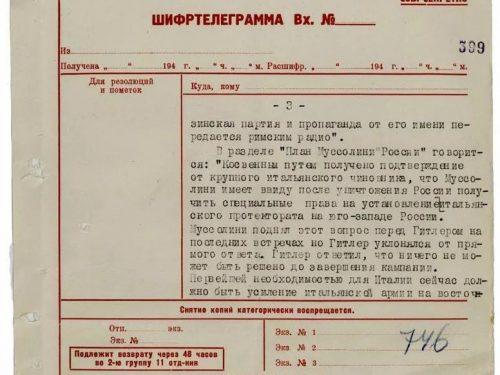 Quando Mussolini chiese un pezzo di Russia a Hitler