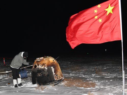 La sonda spaziale cinese porta a casa campioni lunari