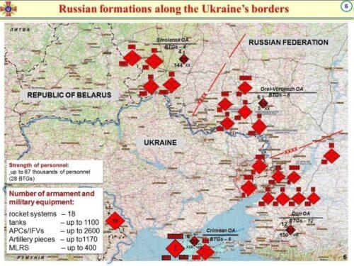 L'intelligence statunitense calcola male il numero di truppe russe vicino l'Ucraina
