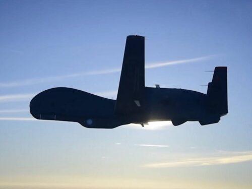 Un drone RQ-4A Global Hawk statunitense bloccato sui cieli del Donbas