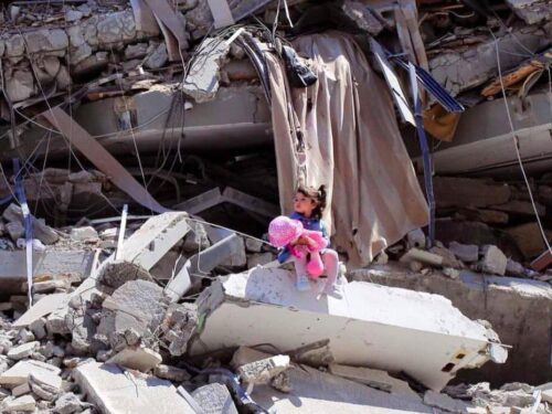 Distruzione nella Striscia di Gaza