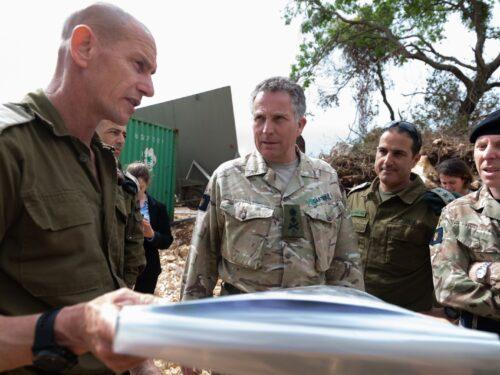 L'esercito britannico sostiene le operazioni d'Israele contro i palestinesi