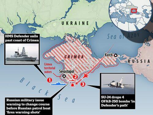 I russi aprono il tiro di avvertimento su un cacciatorpediniere inglese